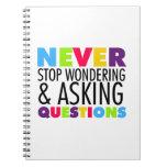 Nunca pare el preguntarse y el hacer de preguntas libros de apuntes con espiral
