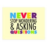 Nunca pare el preguntarse y el hacer de preguntas postal