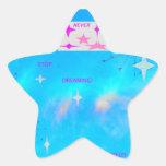 Nunca pare el soñar de los pegatinas calcomanía forma de estrellae