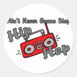 Nunca pare Hip Hop Pegatinas Redondas