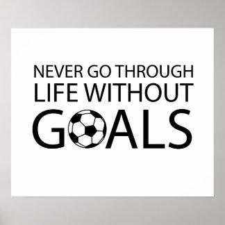 Nunca pase con vida sin metas poster