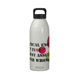 nunca perjudique botella de beber