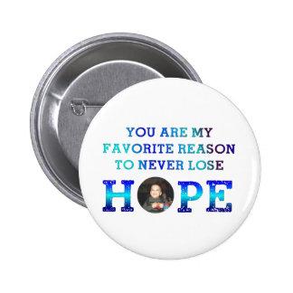 Nunca pierda la esperanza - Caiden Pin Redondo De 2 Pulgadas