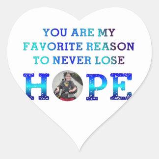 Nunca pierda la esperanza - Charlie Pegatina En Forma De Corazón
