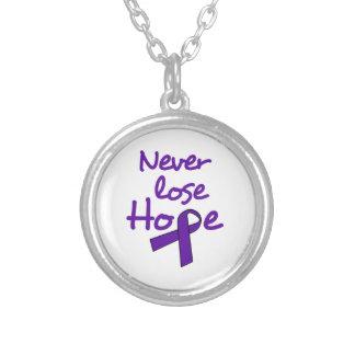 Nunca pierda la esperanza colgante redondo