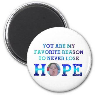 Nunca pierda la esperanza - JD Imán Redondo 5 Cm