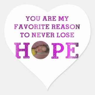 Nunca pierda la esperanza - Kaitlyn Pegatina En Forma De Corazón