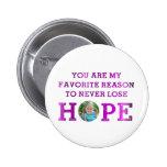 Nunca pierda la esperanza - Madisyn Pin Redondo 5 Cm