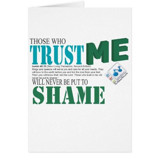Nunca pondrán los que me confían en para shame felicitación