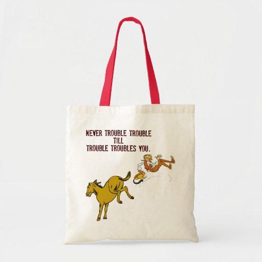 Nunca preocupe el bolso del problema bolsa