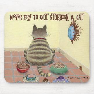 Nunca pruebe a obstinado un gato alfombrillas de ratones