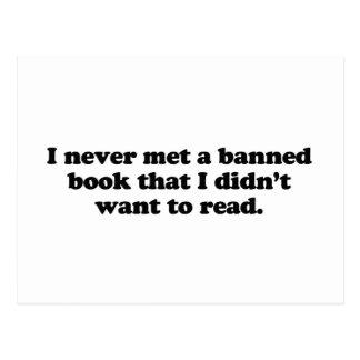 Nunca resolví un libro prohibido que no quise leer postales