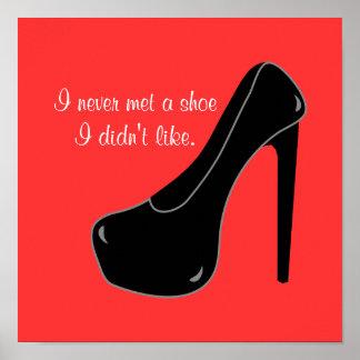 Nunca resolvió un zapato póster