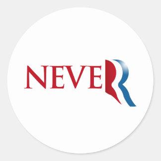 Nunca Romney.png Pegatina Redonda