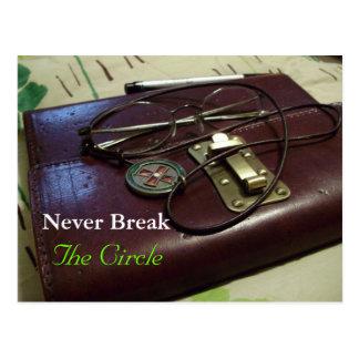 Nunca rompa el círculo tarjetas postales