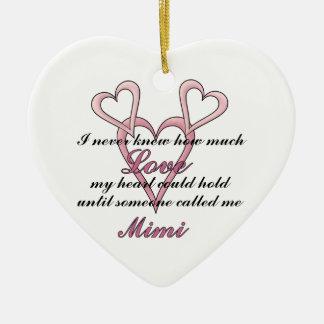 (Nunca sabía) ornamento decorativo Mimi Adorno Navideño De Cerámica En Forma De Corazón