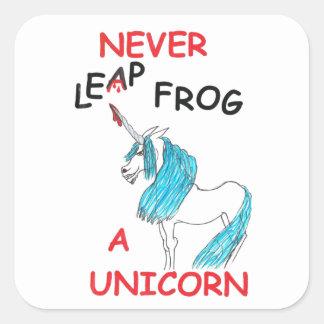 nunca salte a los pegatinas de un unicornio