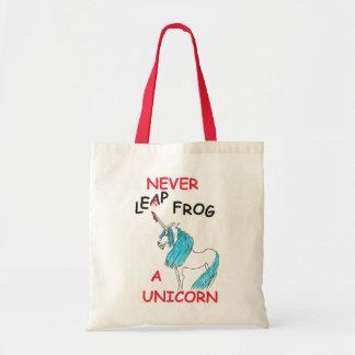 nunca salte un unicornio bolsa tela barata