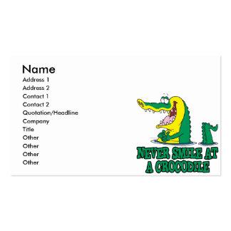 nunca sonría en un cocodrilo tarjetas de visita