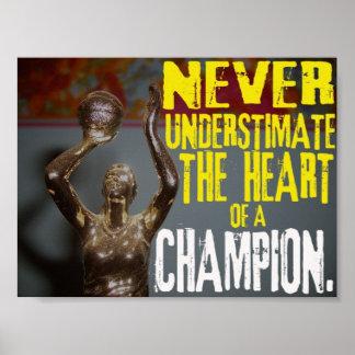 Nunca subestime el corazón de un campeón impresiones