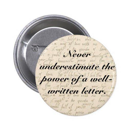 Nunca subestime el poder de una letra pins