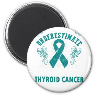 Nunca subestime la fuerza del cáncer de tiroides imán redondo 5 cm