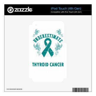 Nunca subestime la fuerza del cáncer de tiroides iPod touch 4G skins