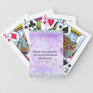 Nunca tema las peleas, pero busque las aventuras p baraja cartas de poker