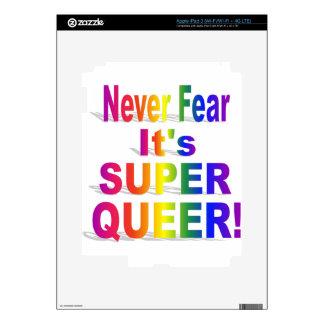 Nunca tema que sea orgullo gay raro estupendo pegatina skin para iPad 3