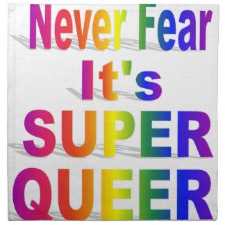 Nunca tema que sea orgullo gay raro estupendo servilleta de papel