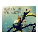 Nunca un fracaso siempre una lección postal