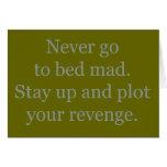 Nunca váyase a la cama enojado tarjetas