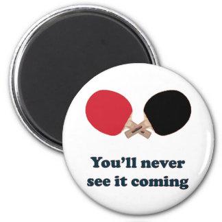 Nunca véalo ping-pong que viene imán redondo 5 cm