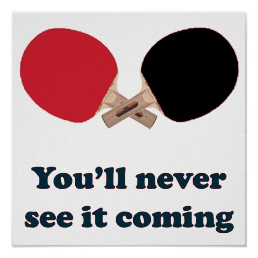 Nunca véalo ping-pong que viene poster