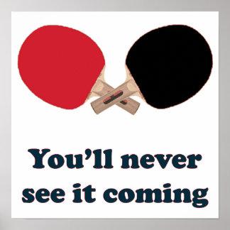 Nunca véalo ping-pong que viene póster