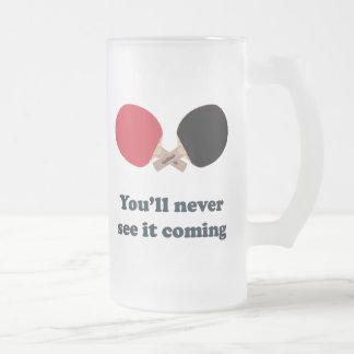 Nunca véalo ping-pong que viene taza de cristal