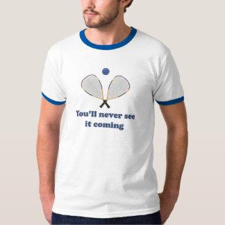 Nunca véalo Racquetball Camisas