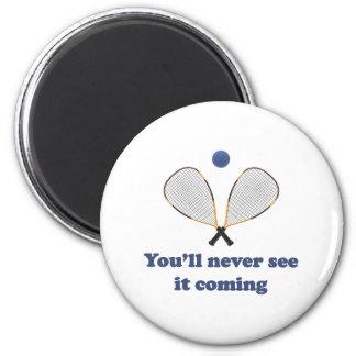Nunca véalo Racquetball Imán Redondo 5 Cm