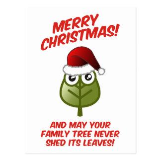 Nunca vierta sus hojas tarjeta postal