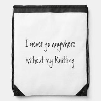 Nunca voy dondequiera sin mi hacer punto mochilas