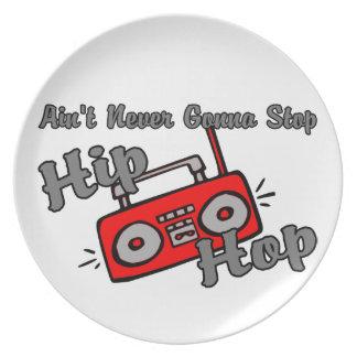 Nunca yendo a parar Hip Hop Plato De Cena