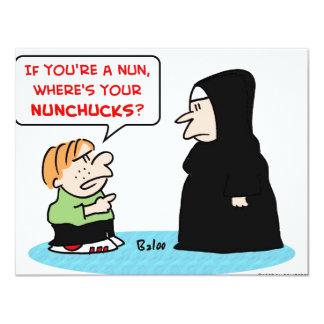 """nunchucks de la monja invitación 4.25"""" x 5.5"""""""