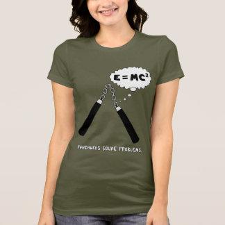 Nunchucks Ladies Army T-Shirt