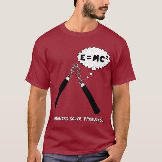 Nunchucks Maroon T-Shirt