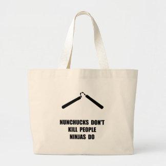 Nunchucks Ninja Large Tote Bag