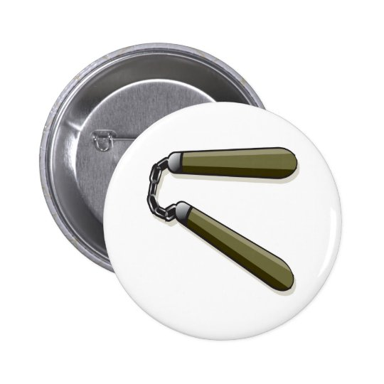 Nunchucks Pinback Button