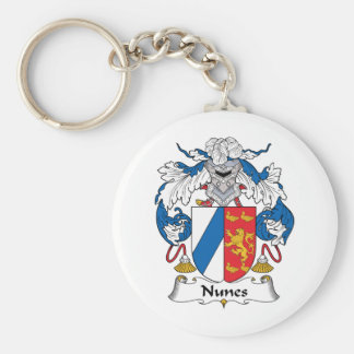 Nunes Family Crest Basic Round Button Keychain