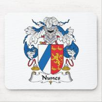 Nunes Family Crest Mousepad