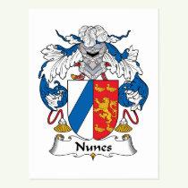 Nunes Family Crest Postcard