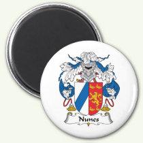 Nunes Family Crest Magnet